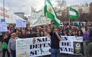Imagen de la manifestación del día 19 en defensa del campo en Granada.