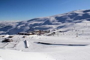 Área de Borreguiles, tras las últimas nevadas.