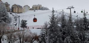 La nieve ha dejado una estampa invernal en Sierra Nevada.