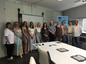 Representantes de los países miembros del proyecto, en Granada.