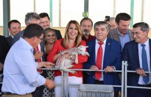 Susana Díaz, en la Feria Agroganadera de Huéscar.