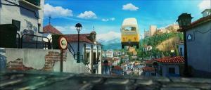 Imagen de la película, en el Albaicín, con la Alhambra y la Sierra de fondo.