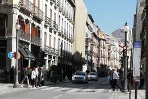 El taxista circulaba por Reyes Católicos en dirección a Puerta Real.