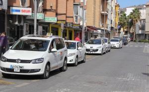 Taxis en Motril, en una foto de archivo.