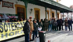 Imagen de archivo de una acción reivindicativa en la estación de Baza.