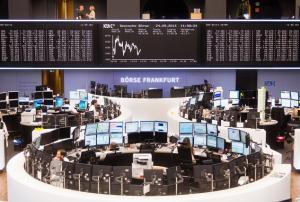 Patio de operaciones de la Bolsa alemana.