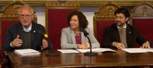 Francisco Casero, Pilar Aranda y Antonio Aguilera.