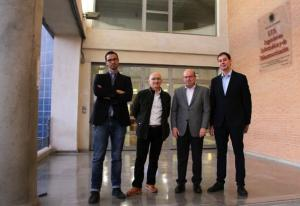 De izquierda a derecha, Alberto Fernández, Enrique Herrera-Viedma, Francisco Herrera y Salvador García.
