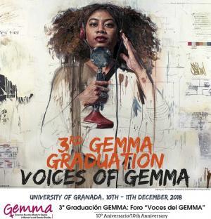 Cartel del foro intercultural 'Voces del GEMMA'.