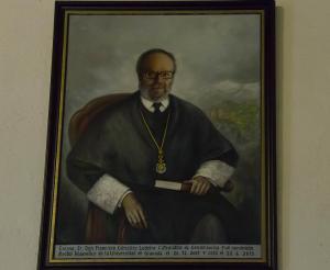 Retrato del exrector Francisco González Lodeiro.