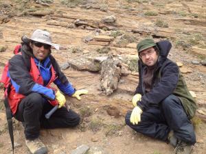 Los doctores Manuel Schilling (Universidad Austral de Chile) y José Mª González Jiménez (UGR), dos de los investigadores.