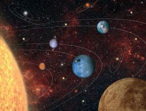 Imagen que representa la variedad de sistemas planetarios que 'Plato' descubrirá.