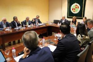 Reunión de rectores andaluces.