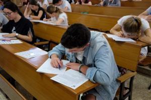 Estudiantes durante uno de los exámenes.