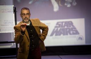 Eduardo Segura, en unas jornadas sobre Star Wars en Valencia.