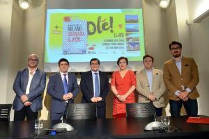 Presentación de la promoción en Milán.