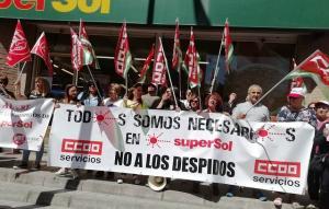Una de las protestas contra el ERE.