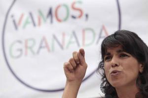 Teresa Rodríguez durante su intervención.