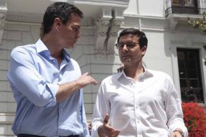 Pedro Sánchez con Paco Cuenca.