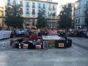Acto en la Plaza del Carmen con motivo del Día del Refugiado.