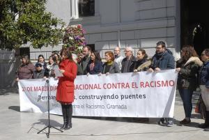 Lectura del manifiesto en la Plaza del Carmen.
