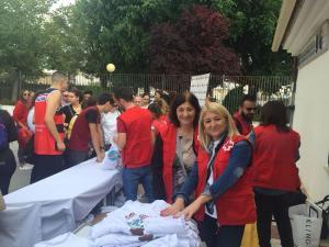 Voluntarias, en el encuentro de Cruz Roja Granada.