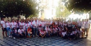 Voluntarios en el Encuentro Provincial de Cruz Roja en Granada.