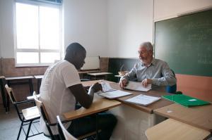 Imagen de una de las clases.