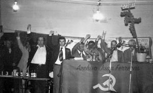 Homenaje al PC en el 40 aniversario de las primeras elecciones democráticas tras la dictadura.