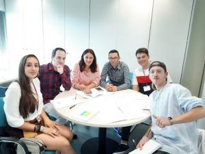 La diputada Alejandra Durán, en una reunión de trabajo.