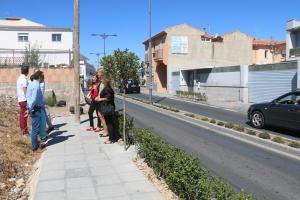 Visita de los populares a las obras a la entrada de Alhendín.