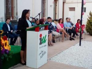 Ana Rodríguez, junto al resto de la candidatura.