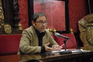 Fernández Madrid en rueda de prensa este lunes.