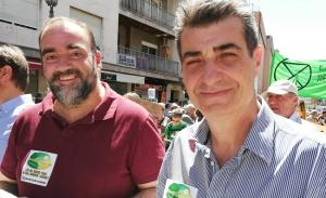 Antonio Cambril y Francisco Puentedura, este sábado en la Marcha por el Clima.