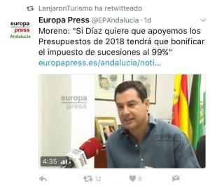 Twitter relanzado desde Lanjarón Turismo.