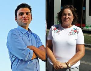 Ángel de la Cruz y María del Carmen Pérez.