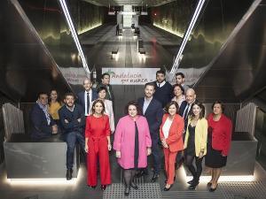 Teresa Jiménez con los candidatos y candidatas que la acompañan en la lista.