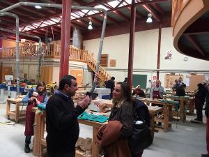 Marifrán Carazo durante su visita al Centro Albayzín.