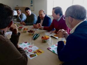 Los parlamentarios del PP, en la reunión.