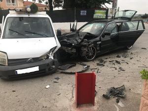 Imagen de un accidente en la localización cuya alta peligrosidad denuncia la formación.