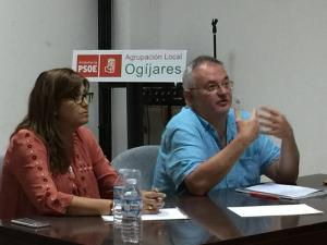 Chema Rueda, este lunes en la Casa del Pueblo de Ogíjares.