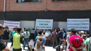 Protesta en el CEIP Sierra Elvira.