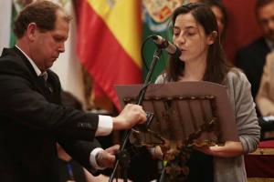 Marta Gutiérrez, durante su intervención.