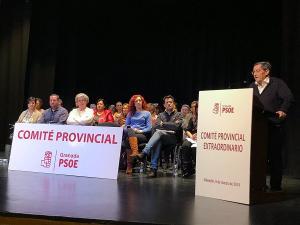 Entrena, durante su intervención en el Comité Provincial celebrado en Alhendín.