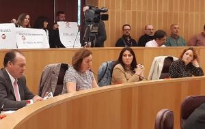 Cristina Jiménez, durante el pleno.
