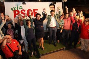 Cuenca, arropado por Teresa Jiménez y miembros de la candidatura.