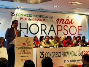 Cuenca, durante su intervención en el Congreso socialista.