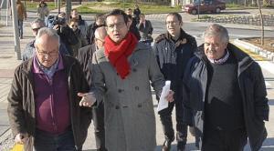 El alcalde en una visita a Casería de Montijo este jueves.