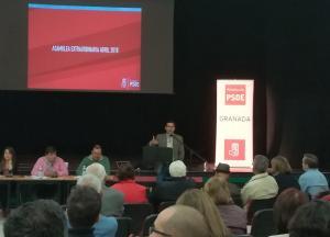 Cuenca, durante su intervención en la Asamblea.