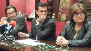 Cuenca, junto a Oliver y Muñoz.